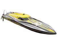 RC Rennboot Speedboot ALPHA yellow Brushless 80km/h 4S-6S Lipo 106cm 2,4 GHz NEU