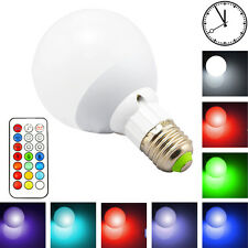 10W RGB LED Bulb Color Changing Timing Remote Control Lamps Bulbs Lighting