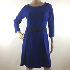 Anthropologie Girls From Savoy S Small Sheath Dress 3/4 Sleeve Pleated Zip Back