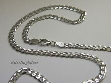 """925 Sterling Silver Curb Chain / Necklace - 18"""" Inches, 9.5 Grams, 4.2 mm width"""
