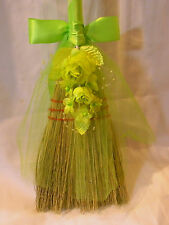 Wedding Custom Designed Jumping the Broom Traditional Ceremony Party Lime Green