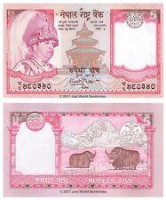 Nepal 5 RUPEES 2002 UNC banconote P-46