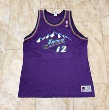 Vintage Champion John Stockton Utah Jazz Jersey Size 52 (2XL XXL)