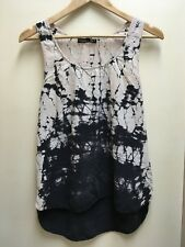 GYPSY 05 GLOBAL VILLAGE Boho Tie Dye Racerback 100% Silk Tank Top Blouse Size M