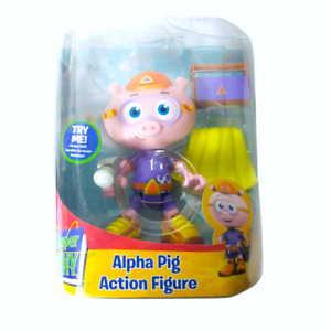 """RARE Super Why Alpha Pig action figure 6"""" Learning Curve PBS W/ Toolbox -"""