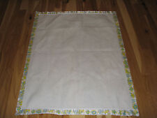 Vintage Baby Security Blanket Triboro Quilt Acrylic White Satin Binding 36x45