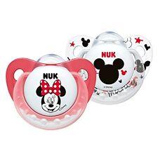 Nuk Disney Mickey y Minnie Chupetes Silicona (0-6 meses) (Colores pueden variar)