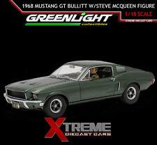GREENLIGHT 12938 1:18 1968 FORD MUSTANG GT BULLITT W/ STEVE MCQUEEN FIGURE