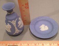 Vintage Wedgewood Tiny Vase & Plate