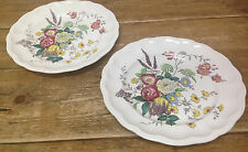 Gainsborough Spode Great Britain S245 Floral 2 Large Dinner Plates Brown 10 5/8""