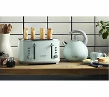RUSSELL HOBBS Bubble 24404 4-Slice Toaster -Green and Bubble 24404 Kettle -Green