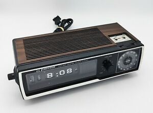 Vintage Emerson DCF-80 Faux Wood  Digimatic Flip Roller Clock & am/fm Radio Nice