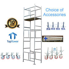 Scaffold Tower + Boards 5.5m 4x2ft 6in x 18ft WH Galvanised- Choice Accessories