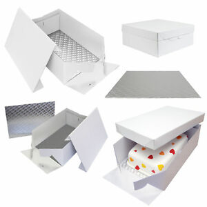 PME Oblong Cake Baking Sugarcraft Box & Support Stand Decoration Card Board