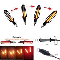 2X Yellow+Red Light Motorcycle Turn Signals Lights LED Directional Daytime Lamp