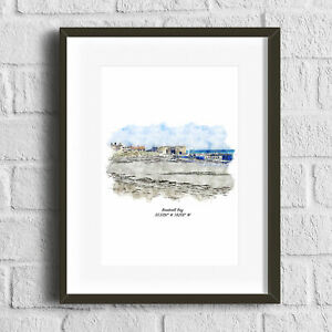 Beadnell Bay, Northumberland Art Print