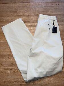 "NWT Nike Mens Golf Pants 34 Unhemmed Sports 100% Cotton Pockets Inseam-35.5"""