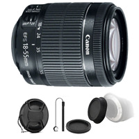 Canon EF-S 18-55mm f/3.5-5.6 IS STM Lens with Accessories For Canon 77D and 80D