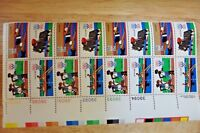 US Stamp 15 cent Summer Olympics Block of 16 1980 Track Swimming Rowing #1791-94