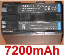 Battery 7200mAh type BP-970 BP-970G BP-975 For Canon GL2