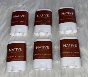 Native Deodorant Coconut Vanilla .35 oz 6x Cruelty Free Paraben Free