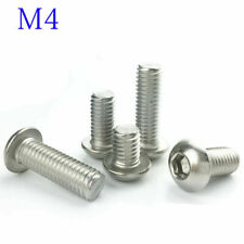 M4 4mm M4 -0.7 Metric 304 Stainless Steel  Hex Socket BUTTON HEAD Screws Bolt A2