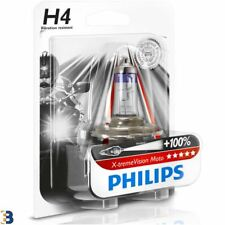Philips H4 X-treme Vision Moto 60/55W 12V 12342XVBW Phares de moto Single
