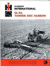 International GL-9A Tandem Disc Harrow brochure