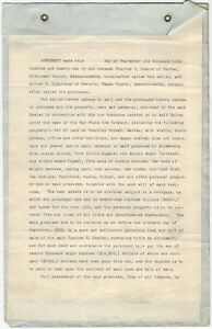 Bay State Ice Company 1922 Contract - Selling Ice Business Malden Massachusetts
