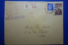 LOT 12159 TIMBRES STAMP LETTRE RECOMMANDEE FRANCE ANNEE 1945