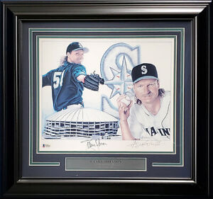 Randy Johnson Autographed Framed 11x14 Lithograph Photo Mariners Beckett #H44626