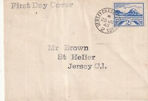 JERSEY WARTIME 29 JUNE 1943 2 1/2d SCENES FIRST DAY COVER