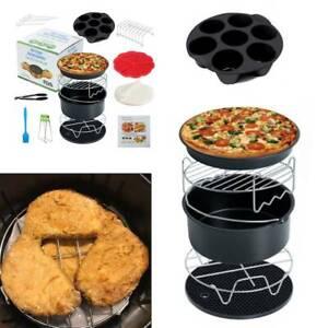 15X Zubehör Set für Heißluftfritteuse Fritteuse Airfryer Heißluftofen Backform