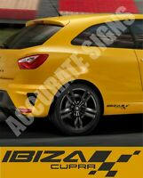 IBIZA CUPRA FR STICKERS DECALS 30CM (PAIR) MANY COLOURS