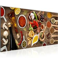 Wandbild  Wohnzimmer - Küche - Gewürze Bunt - Schlafzimmer Deko Bilder 100x40 cm