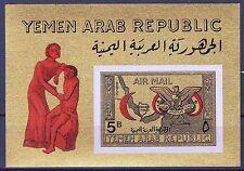 Yemen 1968 Red Cross 5 B S/S Gold MNH**