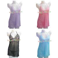 Sexy Lingerie Lace Dress Babydoll Women's Underwear Nightwear Sleepwear G-string