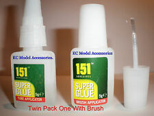 SUPER GLUE 2x5g 151 TWIN PACK ONE WITH BRUSH APPLICATOR FOR EVERYDAY USE