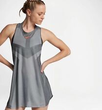 WOMENS NIKE COURT DRY SLAM TENNIS DRESS SIZE L (854883 073) GREY