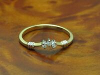 18kt 750 BICOLOR GOLD RING MIT BRILLANT BESATZ / DIAMANTRING GOLDRING