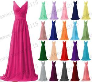 New Formal Chiffon Bridesmaid Dress Evening Ball Prom Dress Gown Size 6-30