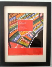 RADIOHEAD*There There*Tour*2003*ORIGINAL*POSTER*AD*FRAMED*FAST WORLD SHIP
