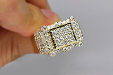 0.90 Ct Sim Diamond 10K Yellow Gold Fn Round Engagement Wedding Mens Ring