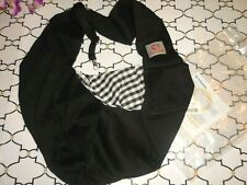 Tomkas Dog Sling Carrier for Small Dogs Puppy / Cats ~ Black Reversible Plaid