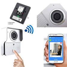 Interphone Vidéo Sonnette LED Ir Lan Wifi HD Pièce Appel Distance Smartphone