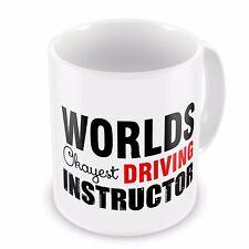 Worlds Okayest Driving Instructor Funny Novelty Gift Mug