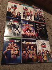 BIG BANG THEORY SEASONS 1-9, DVD, GREAT SHAPE