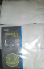 3 PACK BOYS TRUNKS BOXERS PANTS 18-24 MONTHS WHITE NEW M&S 1 1/2- 2 YEARS COTTON