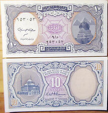 """BILLETE """"   EGIPTO  """"  10   PIASTRAS      AÑO  1940     UNC    PLANCHA"""