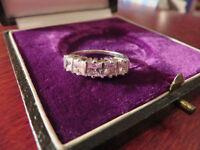 Schöner Silber Ring Zirkonia Wie Diamant Bergkristall Funkelnd Elegant Kubus